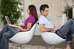 las relaciónes en línea y la numerologia 3