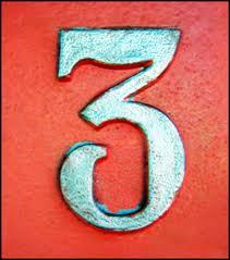 Combinación del número de destino Tres y Tres 3